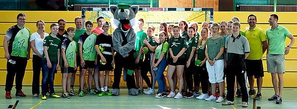 Organisatoren, Unterstützer und Helfer des Grundschulhandballturniers
