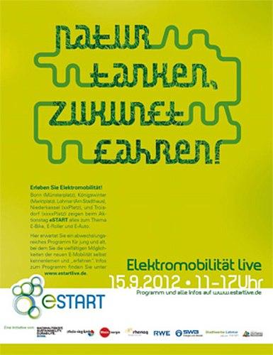 Plakatentwurf Elektromobilität Live
