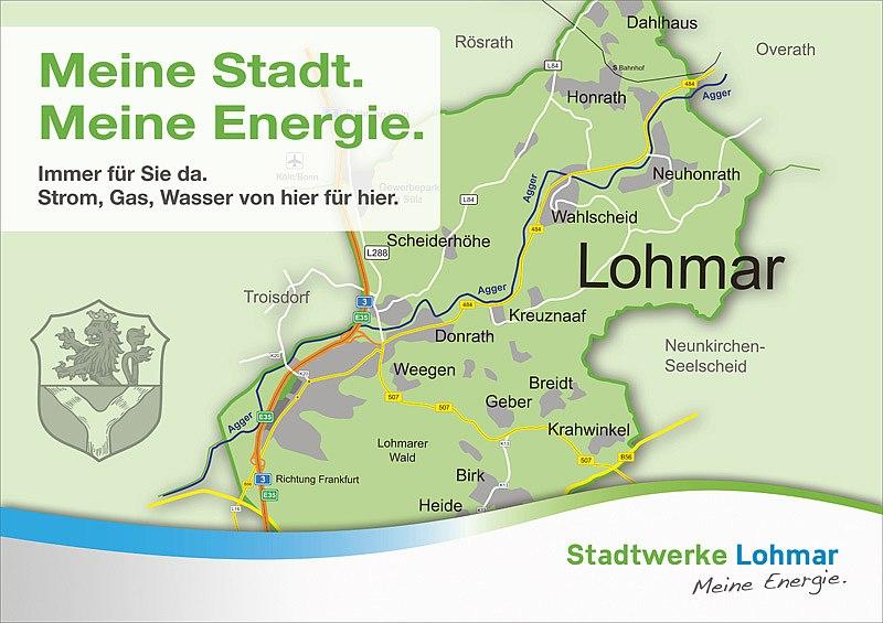 Ihre Energieversorgung durch die Stadtwerke Lohmar: von hier für hier