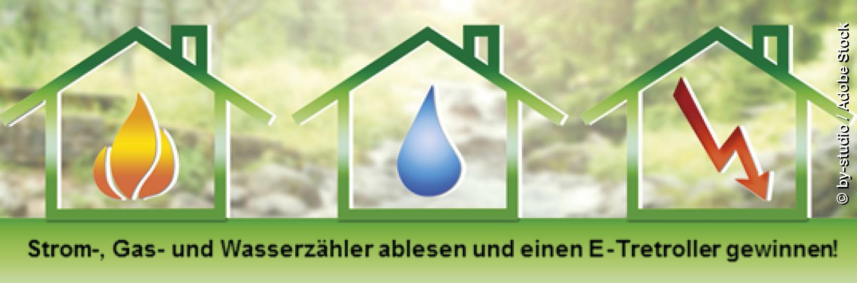 Strom-, Gas- und Wasserzähler ablesen und einen E-Tretroller gewinnen!(Bild: by-studio / Adobe Stock)